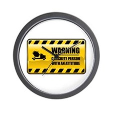 Warning Concrete Person Wall Clock