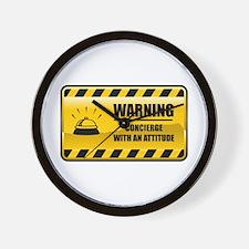 Warning Concierge Wall Clock