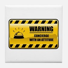 Warning Concierge Tile Coaster