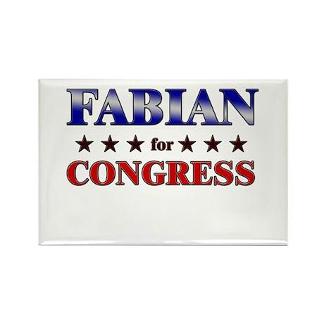 FABIAN for congress Rectangle Magnet