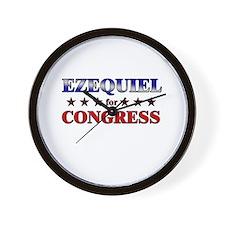 EZEQUIEL for congress Wall Clock