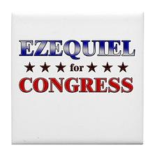 EZEQUIEL for congress Tile Coaster
