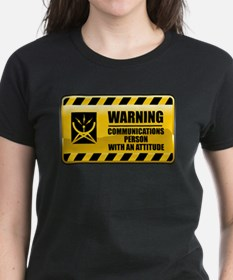 Warning Communications Person Tee