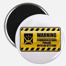 Warning Communications Person Magnet