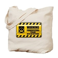 Warning Communications Person Tote Bag
