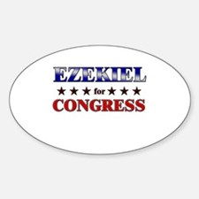 EZEKIEL for congress Oval Decal