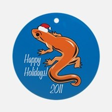Newt Happy Holidays! Round Ornament