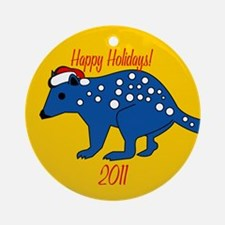 Quolls Happy Holidays! Round Ornament