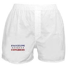 EVANGELINE for congress Boxer Shorts
