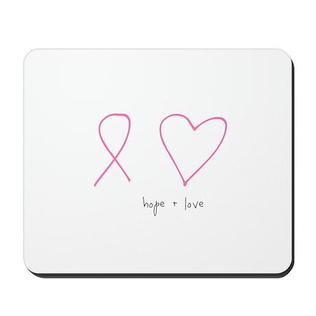Hope + Love Mousepad