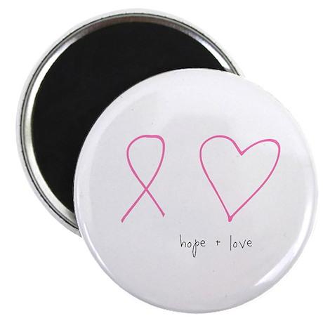 "Hope + Love 2.25"" Magnet (100 pack)"