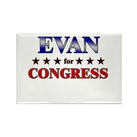 EVAN for congress Rectangle Magnet