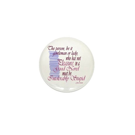 Jane Austen novel quote Mini Button