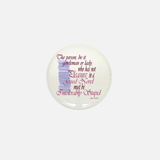 Jane Austen novel quote Mini Button