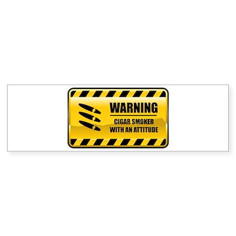 Warning Cigar Smoker Bumper Sticker