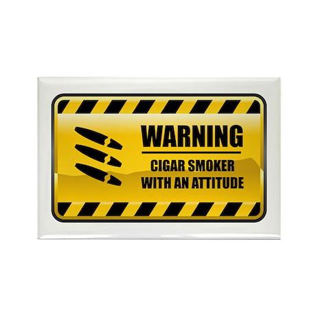 Warning Cigar Smoker Rectangle Magnet (100 pack)