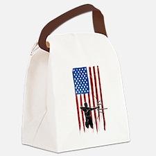 USA Flag Team Archery Canvas Lunch Bag