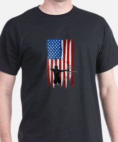 USA Flag Team Archery T-Shirt