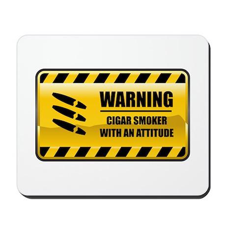 Warning Cigar Smoker Mousepad