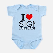 I Love Sign Language Body Suit
