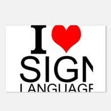 I Love Sign Language Postcards (Package of 8)