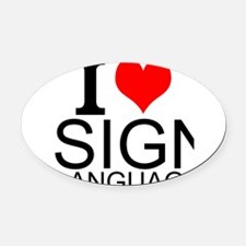 Manual Alphabet Car Magnets Personalized Manual Alphabet Magnetic - Car sign language