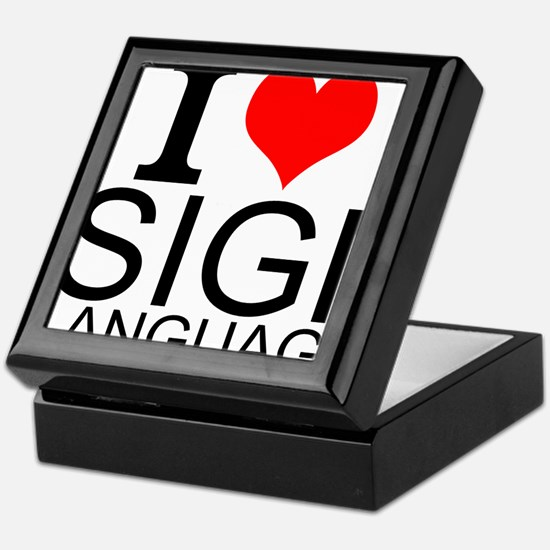 I Love Sign Language Keepsake Box