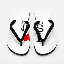 I Love Sign Language Flip Flops