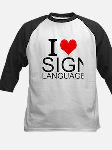 I Love Sign Language Baseball Jersey