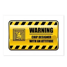Warning Chip Designer Postcards (Package of 8)