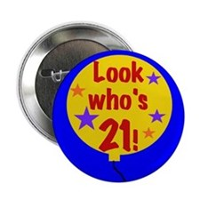 21st Birthday Button