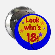 "18th Birthday 2.25"" Button (10 pack)"