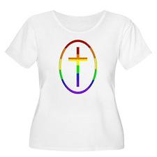 Rainbow Cross #1A & #1B -  T-Shirt