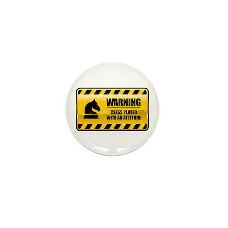 Warning Chess Player Mini Button