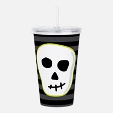 Green Skeleton Face St Acrylic Double-wall Tumbler