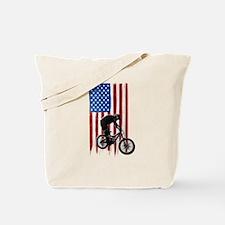 USA Flag Team BMX Cycling Tote Bag