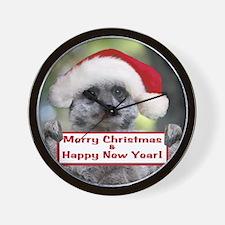 Helaine's Christmas Meerkat Wall Clock