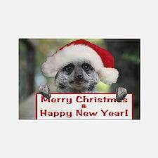 Helaine's Christmas Meerkat Rectangle Magnet