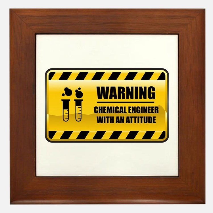 Warning Chemical Engineer Framed Tile