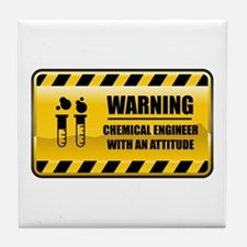 Warning Chemical Engineer Tile Coaster