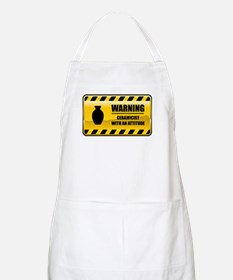 Warning Ceramicist BBQ Apron
