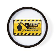 Warning Ceramicist Wall Clock