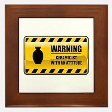 Warning Ceramicist Framed Tile