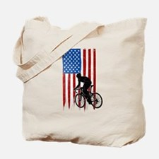 USA Flag Team Cycling Tote Bag