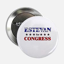 """ESTEVAN for congress 2.25"""" Button"""
