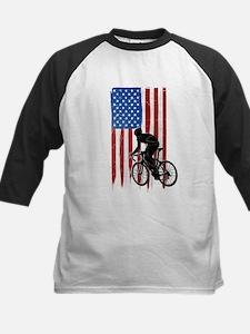 USA Flag Team Cycling Kids Baseball Jersey