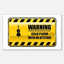 Warning Cello Player Rectangle Decal