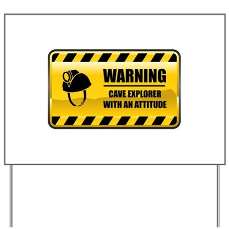 Warning Cave Explorer Yard Sign