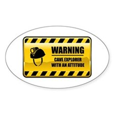 Warning Cave Explorer Oval Decal