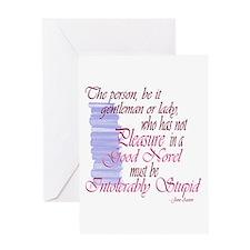 Jane Austen Novel Quote Greeting Card